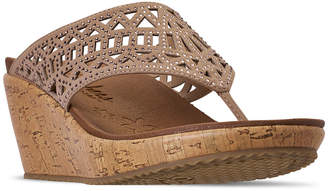 Skechers Women Cali Beverlee - Summer Visit Wedge Sandals from Finish Line