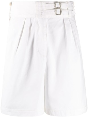 Lanvin high-waisted belted shorts
