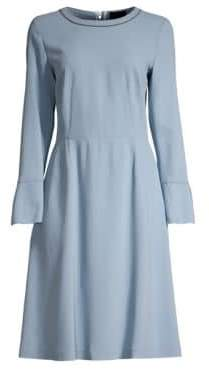 Piazza Sempione Women's Bell Sleeve A-Line Dress - Light Blue - Size 42 (6)