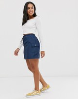 Daisy Street mini skirt with toggle detail in navy