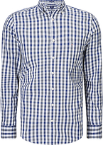 Gant Multicolour Gingham Shirt, Indigo Blue