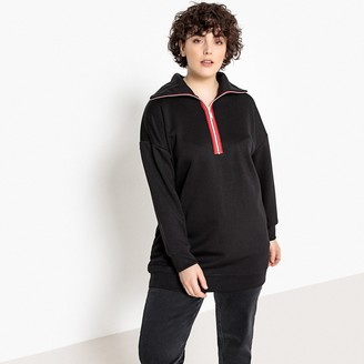 Castaluna Plus Size High Neck Half Zip Sweatshirt