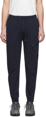 C.P. Company Navy Diagonal Fleece Lounge Pants