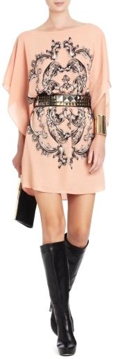 BCBGMAXAZRIA Lois Medallion-Print Dress