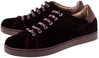 Gianvito Rossi Burgundy Suede Trainers