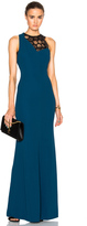 Roland Mouret Tolson Hexagonal Embroidered Lace Gown