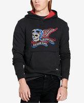 Denim & Supply Ralph Lauren Men's Biker Skull French Terry Logo Hoodie