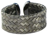 Roberto Coin Sterling Silver Medium Woven Blackened Cuff Bracelet