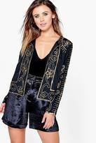 Boohoo Petite Roma Embellished Jacket