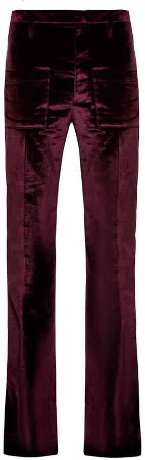 Vetements Flared velvet trousers