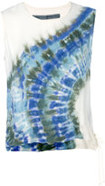 Raquel Allegra muscle tie dye top - women - Silk - 0