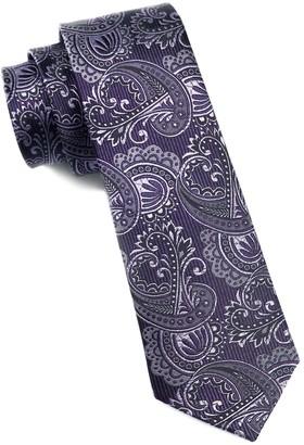 The Tie BarThe Tie Bar Deep Eggplant Twill Paisley Tie