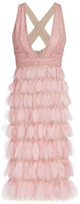 J. Mendel Embellished Silk Cocktail Dress