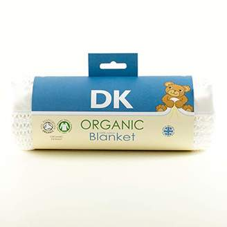 DK Glovesheets Organic Cotton Pram/Crib Size Cellular Blanket, Satin White