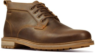 Clarks Foxwell Mid Leather Boots - Beeswax