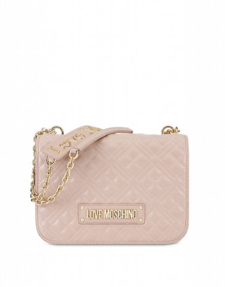 Love Moschino Quilted Shoulder Bag With Logo Woman Pink Size U It - (one Size Us)