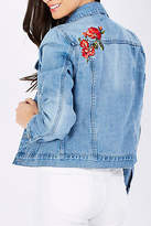 Sass NEW Womens Jackets Kiana Embroidered Demin Jacket MidIndigo