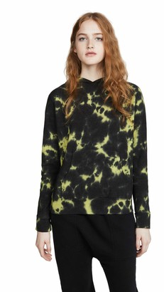 Monrow Women's Pullover Hoody with Blackout Tie Dye