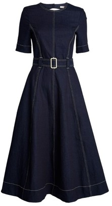 Tommy Hilfiger Flared Denim Midi Dress