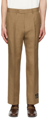 Gucci Brown Linen Trousers