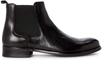 Robert Graham Black Dawson Skull Chelsea Boots