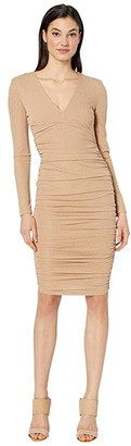Bardot Lorena Stretch Dress (Light Gold) Women's Dress