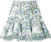 Zimmermann Whitewave Floral-print Linen Mini Skirt