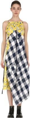 R 13 Patchwork Cotton Midi Dress
