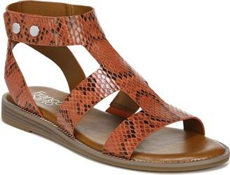 Franco Sarto Womens Genevia Black Sandals 6.5 M