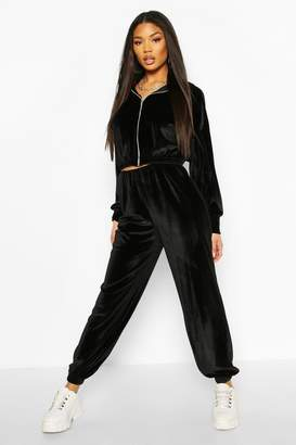 boohoo Velour Slouchy Tracksuit Jogger