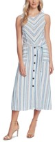 Vince Camuto Wistful Stripe A-Line Dress