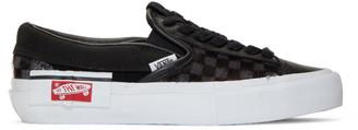 Vans Black Vault Pony Hair Slip-On Cap LX Sneakers
