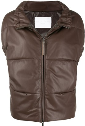 Fabiana Filippi Leather Panelled Gilet
