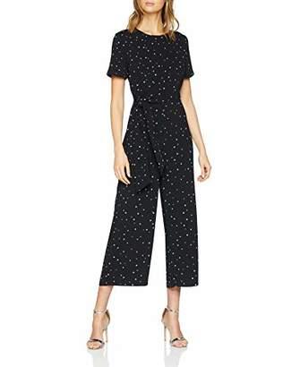 Warehouse Women's Estella Star Print Straight Leg Starred Short Sleeve Jumpsuit,(Manufacturer Size:)