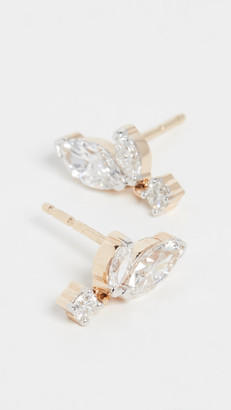 Adina 14k Grace 2 Marquise Stud Earrings