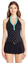Tommy Hilfiger Women's Halter Swim Dress One Piece Swimsuit