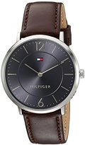 Tommy Hilfiger Men's 'Sophisticated Sport' Quartz Stainless Steel and Leather Automatic Watch, Color:Brown (Model: 1710352)