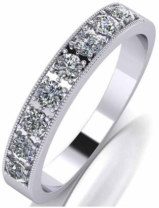 Moissanite Platinum 0.5Ct Total Eternity Ring
