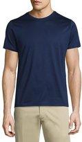 Moncler Side-Striped Short-Sleeve Crewneck T-Shirt, Navy
