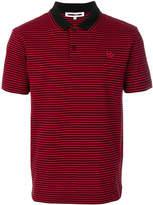 McQ Swallow badge striped polo shirt