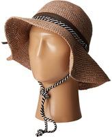 San Diego Hat Company RHM6008 Crochet Raffia Striped Chin Hat Traditional Hats