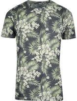 Jack and Jones River Island Mens Green tropical T-shirt