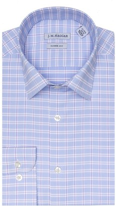 Haggar Men's J.M. Classic-Fit Premium Performance Spread-Collar Dress Shirt