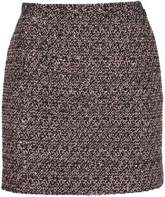 Alessandra Rich Sequin Tweed Mini Skirt