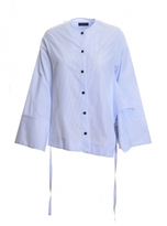 Eudon Choi Woodman Shirt in Light Blue Stripe