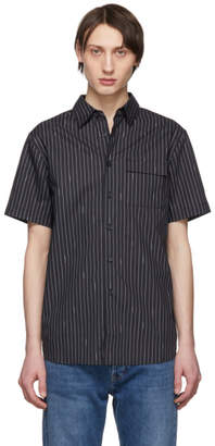 Saturdays NYC Black Nico Logo Stripe Short Sleeve Shirt