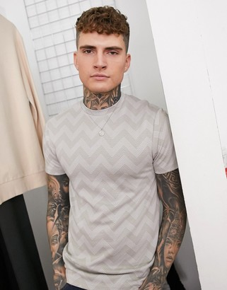 Topman t-shirt in stone