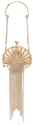 Rosantica Shell Mini Crystal-embellished Pendant Bag - Womens - Gold
