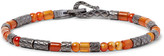 Bottega Veneta Oxidised Sterling Silver Carnelian Bracelet - Orange