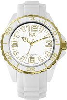Haurex H2X Women's SW382DWG Reef Stones Luminous Water Resistant White Soft Rubber Watch